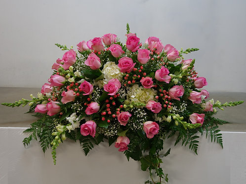 40 Roses and Mix Flowers Casket Spray