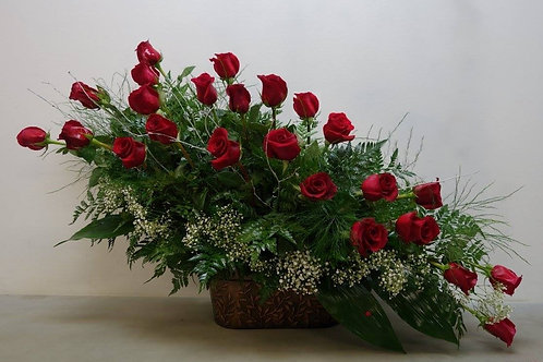 24 Roses Basket Arrangement