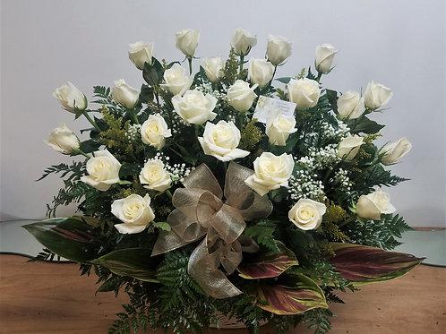 27 Roses Basket Arrangement