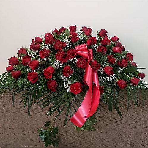 50 Roses Casket Spray