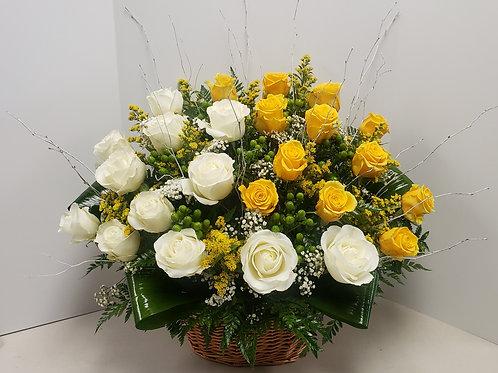24 Roses Sympathy Basket