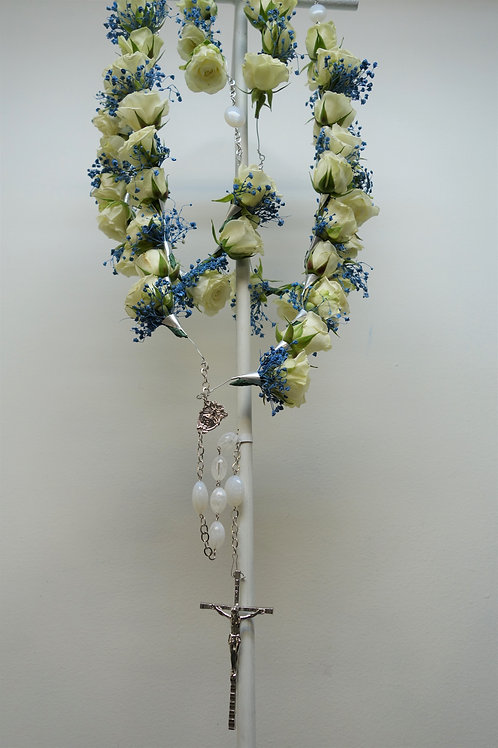 Large Rosary with Spray Roses & Baby's Breath