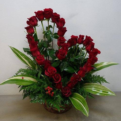 30 Roses Basket Arrangement