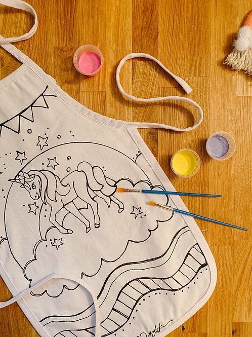 Unicorn Kid's Apron Painting Kit