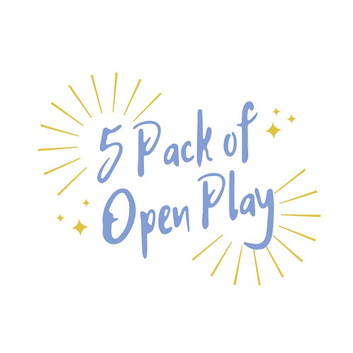5 Pack of Open Play