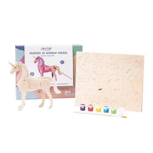 Wooden Puzzle Paint Kit : Unicorn