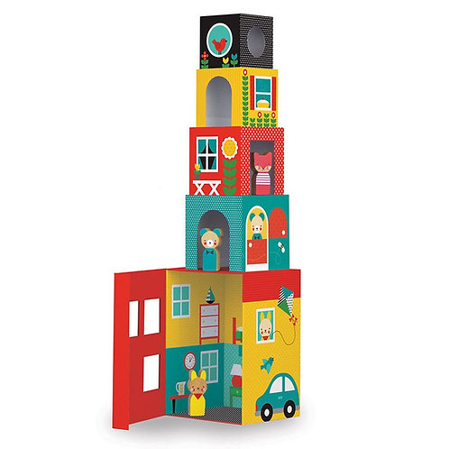 Peek-a-Boo House Stacking Blocks Play Set