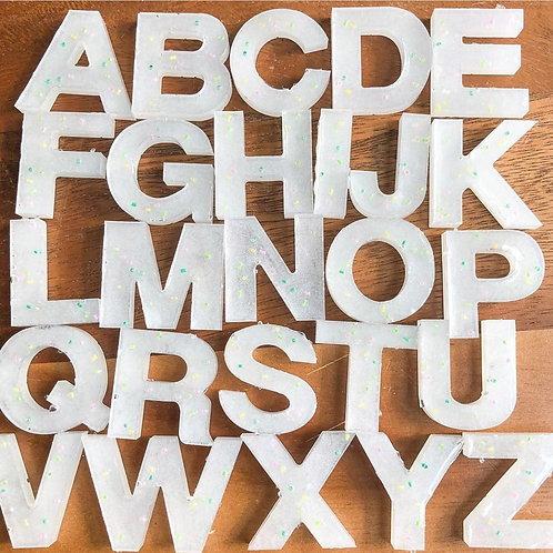 White Sparkle Alphabet Pack