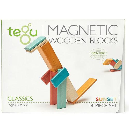 14 Piece Magnetic Wooden Block Set