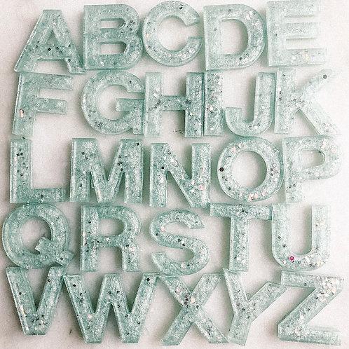 Sage Glitter Alphabet Pack