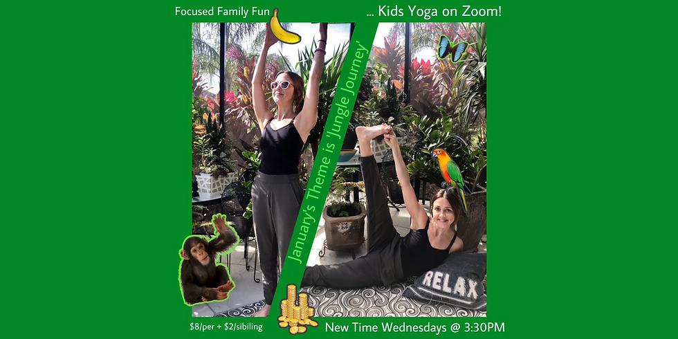 Virtual Kids Yoga (4 week session) 'Jungle Journey'