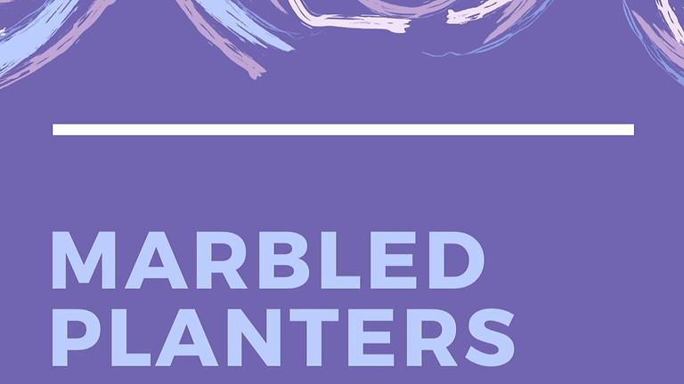 DIY Marbled Planters (Shorewood)