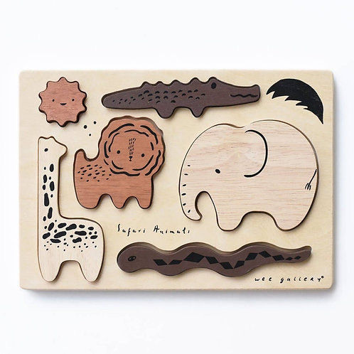 Safari Animals : Wooden Tray Puzzle