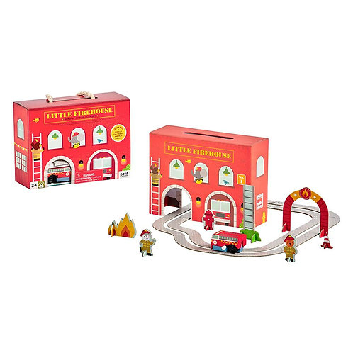Wind Up & Go Fire Station Play Set