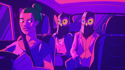 Most trips taken at night