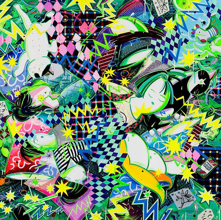 박지혜_전기장판 마니아_acrylic and oil on canvas_