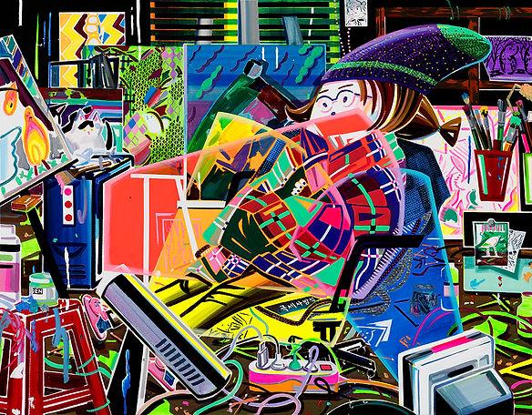 박지혜_난로왕_acrylic and oil on canvas_ 91.0x