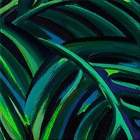 잎, oil on canvas,15.8x15.8cm, 2020.jpg