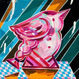 새얼굴2, acrylic and oil on canvas, 22.0x22.0cm, 2020.jpg
