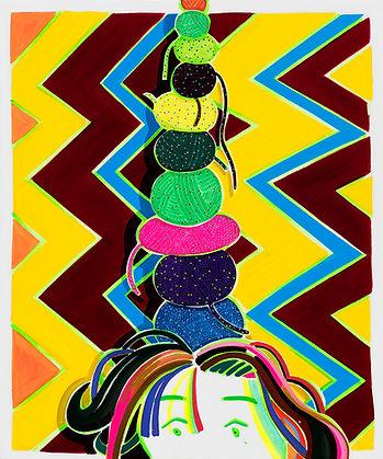 박지혜_소원털실_acrylic and oil on canvas_ 72.7