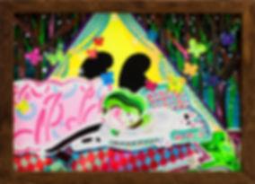 박지혜_캠핑_acrylic and gouache on paper_ 23.