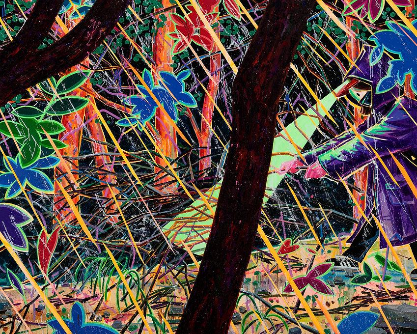비 오는 숲, acrylic and oil on canvas, 130.3x162.2cm, 2020.jpg