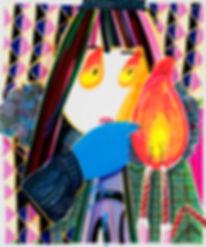박지혜_생일초_acrylic and oil on canvas_ 72.7x
