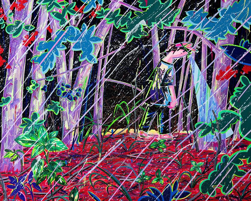 비 오는 숲1, acrylic and oil on canvas, 130.3x162.2cm, 2020.jpg