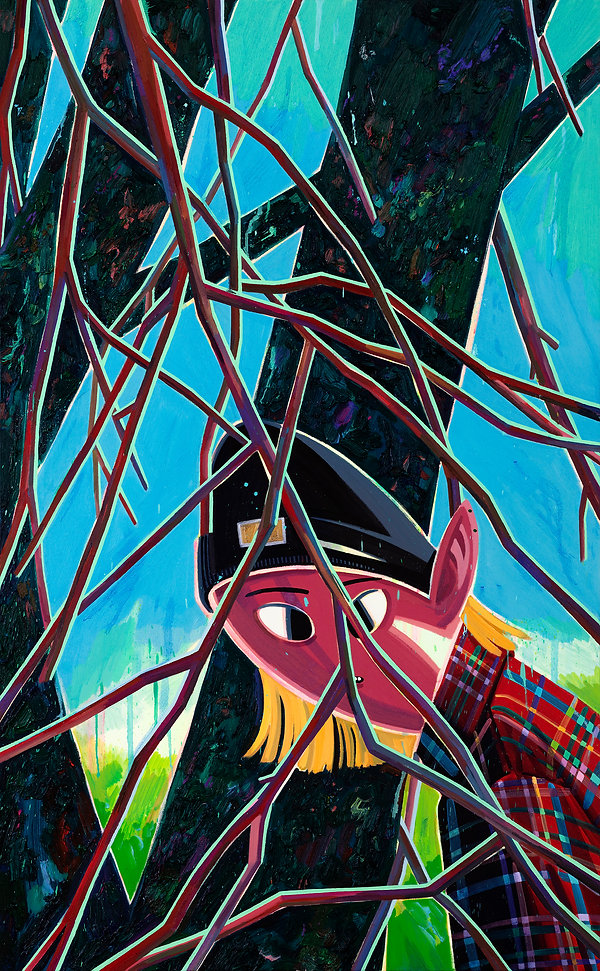 벚꽃나무앞에서, oil on canvas, 130.3x80.3cm,2020.jpg