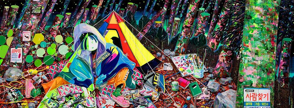 박지혜_야외스케치_acrylic and oil on canvas_ 162