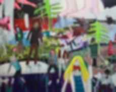 히키코모리_116.8 x 91.0cm_acrylic and oil on