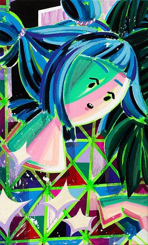 연주, oil on canvas,15.8x15.8cm, 2020.jpg
