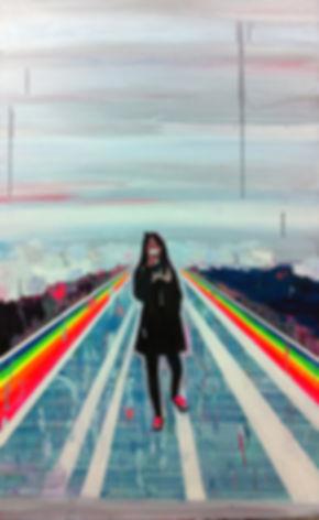 산책_116.8x72.7cm_acrylic and oil on canva