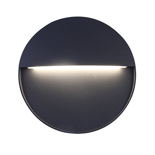 Black Round LED Wall Light (SE-372001-CW)