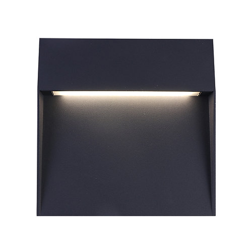 Black Square LED Wall Light (SE-372002-CW)