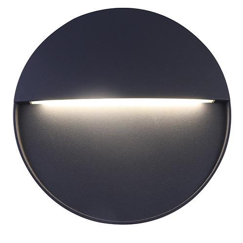 Black Round LED Wall Light (SE-372001-CW)