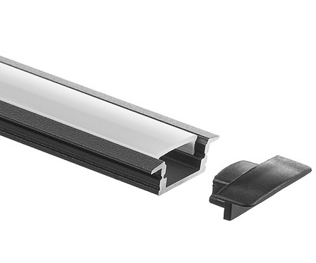 BLACK RECESS ALUMINUM PROFILE (SE-A001-BLK)