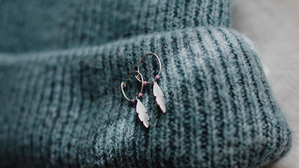 Wild and free Silver Earrings