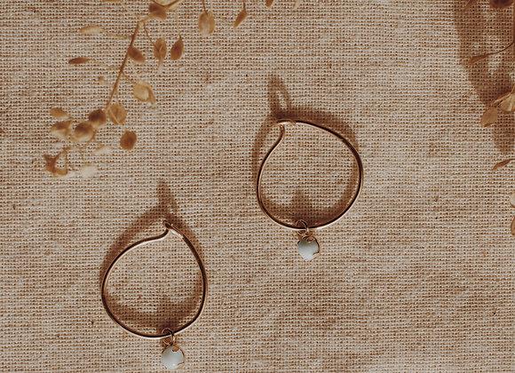 Larimar Gemstone Hoops