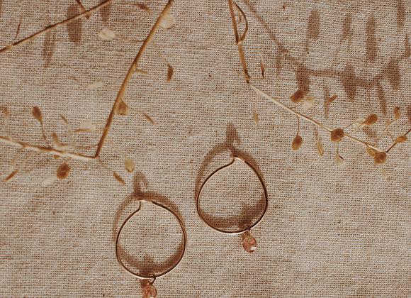 Natural Amber Gemstone Hoops