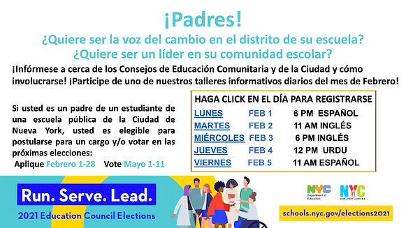 CCEC Election Info Session Flyer Spanish