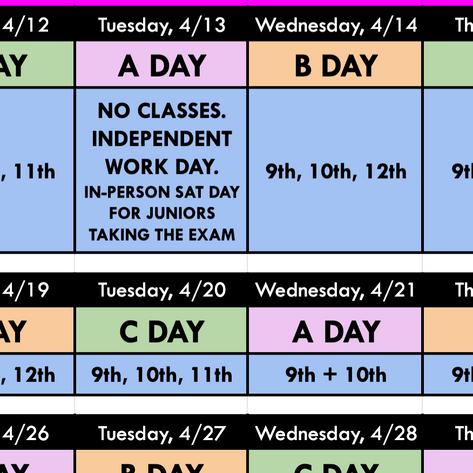 ABC Schedule