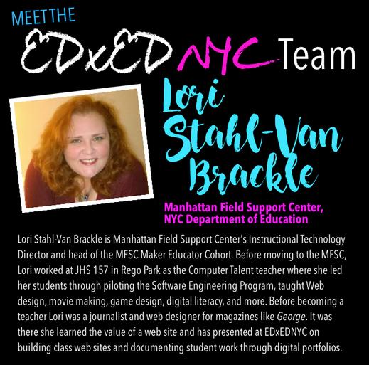 Meet the EDxEDNYC Conference Team — Lori Stahl-Van Brackle