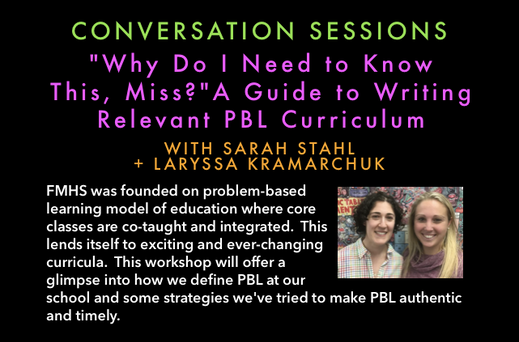 """""""Why Do I Need to Know This, Miss? A Guide to Writing Relevant PBL Curriculum"""