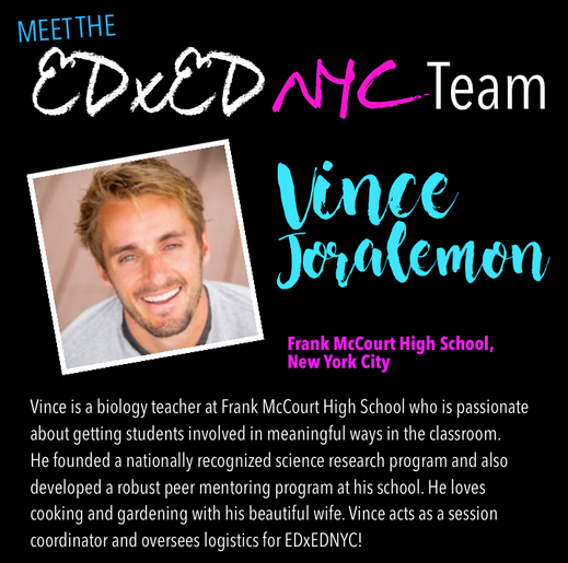 Meet the EDxEDNYC Conference Team — Vince Joralemon