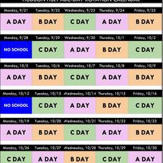 ABC DAYS CALENDAR