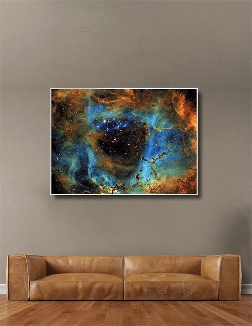 "Gallery Sale -48"" Acrylic Framed  Rosette"