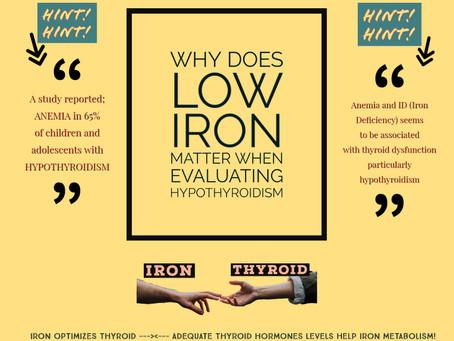 Pourquoi une déficience de FER est-elle importante dans l'évaluation de l'HYPOTHYROIDIE.