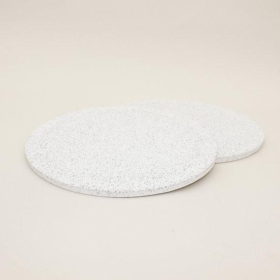 White Granite Placemats Set of 2