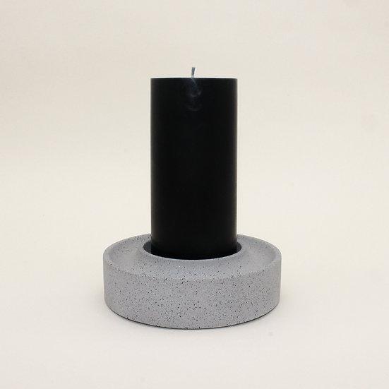 Grey Granite Large Pillar Candle Holder